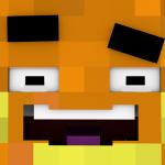 Paluten's Minecraft Skin soll eine Orange darstellen
