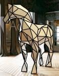 Das habe ich gemalt. Es solle ein Origami-Pferd sein.