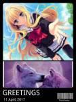 Name: Yara Alter: 11 Geschlecht: Weiblich Charakter: Nett, Hilfsbereit, zerbrechlich Aussehen: normale Gestalt: lilaner Wolf mit Blauem Horn und Blaue