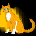 Goldherz, eine mutige Donnerclan- Kriegerin