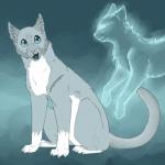 Silbersee, die loyale zweite Anführerin des Flussclan.