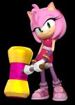 Name: Amy Rose Geschlecht: w Charakter: freundlich, mu tig, nett, hilfsbereit. Aussehen: Bild Kleidung: Bild Gewohnheiten: Mag: Sonic, Sticks mag nich