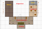 Das Erdgeschoss der Villa als Plan.