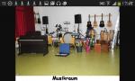 Das ist der Musiksaal. Man darf dort Instrumente ausleihen, eine Band gründen oder einfach nur mal stöbern.