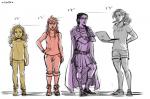 Größenvergleiche der Mädchen