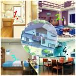 ((big))((bold))((fuchsia))Die Häuser ((ebig))((ebold))((efuchsia)) Das Haus außen ist im mittleren Bild. ((bold))Erdgeschoss:((ebold)) -Küche/Esszi