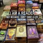 """""""A reader lives a thousand lives before he dies. The man, who never reads, lives only one."""" ~ George R. R. Martin"""