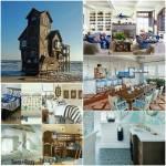 Das Haus am Meer, hier wohnen die Heavens Das Haus, das aus Holz erbaut wurde und an den Fuchsbau erinnert, steht auf Stelzen im Wasser. Es ist über