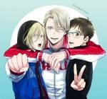 Wie lauten Yuuri's, Viktor's und Yurio's Nachnamen?