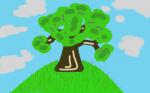 Ein Baum an einem Sommertag
