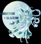 Und das ist Tina, Kim's Gardeon. Gardeon ist eine Mischung aus Gardevoir und Glaziola.