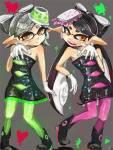Aioli und Limone: Name: Aioli Nachname: Unbekannt Alter: 16 Farbe der Tinte: Pink Augenfarbe: braun Frisur: Aiolis Tentakel haben eine primär schwarz