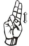 ((big))Ü((ebig)) Für das Ü zeigt ihr das U und zieht es hoch&runter.