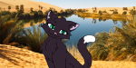 ((maroon))Du bist nun im Lager des Clans angekommen und schaust dich überrascht um. Pflanzen, Wasser und viele Katzen. Du trinkst gierig aus einem Te