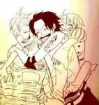 """""""Versuchs doch!"""", grinste Ace. Haruta griff als erstes an. Doch nur mit einem Tritt lag er am Boden. Sofort stürmten Marco und Ace auf mich"""