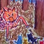 Ein anderes Bild, mal keine Katze. Sondern ein Fuchs, der Junge bedroht!
