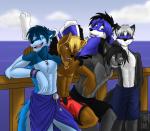 Jace ist der Schwarze ist in Yuki und kann Schatten wie auch Wind bändigen. Joy der Blaue. John der braune sehr charmant Liam der Lillane der dümmst