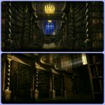 Das ist die große Bibliothek im zweiten Stock.
