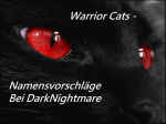 Warrior Cats - Namensvorschläge