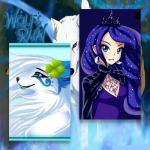 Name: Luna Alter: 17 Aussehen als Mensch: Blaue Augen, Galaxie Haar (Sie hat es sich so färben lassen), ihre Haare sind gelockt, trägt immer eine kl