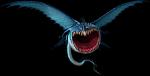 Ein Rumblehorn namens Schädelbrecher, ist der Drache von Haudrauf. Bevor er diesen Drachen hatte, hatte er einen anderen, ein Donnertrommler namens T