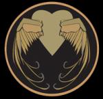 ((unli))Obersekunda((eunli)) Dieses Emblem zeigt die goldenen Flügel des Eros, Sohn unserer Göttin Nyx und Verkörperung der Liebe. Es soll uns dara