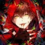 Name: Misaki Alter: 15 Aussehen: er hat tiefrote Haare und gelbe Augen, seine Zähne sind Spitz und seine Haut ist fast weiss, wenn er blutlust hat we