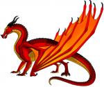 ((bold))Himmelsflügler((ebold)) Himmelsflügler sind schlanke Drachen mit gewaltigen Flügeln. Ihre Schuppenfarben umfassen alle Flammenfarben die es