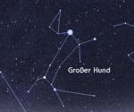 Praktischer Teil Nenne den Stern, der in diesem Sternenbild am größten ist, also der Punkt der am größten ist.