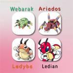 Nun musst du zwischen 2 Käfer Pokémon und deren Weiterentwicklungen wählen!