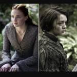 Aira Stark (Maisie williams) und Sansa Stark(Sophie Turner) hassen sich in echt