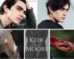 ((blue)) Name: Keir Moore Spitzname: hat keinen Spitznamen Deckname: Alter: 19 ½ (Geburtstag am 7.6.) Geschlecht: männlich Aussehen: Haut: Keir hat