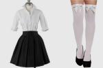 Die Schuluniform für Mädchen ist sehr schlicht gehalten. Sie besteht aus einer weißen Bluse, welches unter einem schwarzen, knielangen Rock gestül