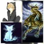 ((teal))Name: Lux de Vógh((eteal)) *Spitzname: Lu Alter: 15 Geschlecht: männlich Wesen: Raijuu (japanische Gottheit) Zimmer: Lichtblick Menschliche