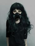 Name: Quin Alter: 15 Aussehen(gerne auch Links): ein wenig über die Schulter gehende schwarze Haare mit leichten kaum merkbaren grau-blauen spitzen,