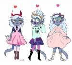 Vorname: Caramel Nachname: von Septarsis Spitzname Kara, Karamell, Cara Aussehen: Silber blaues Haar, grüne Augen, graue haut Charakter: wie Tofee nu