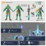 Name: Jade (Defensiv klasse) Aussehen: mecha Kriegerin Waffe: Plasma Pistole und Photonen Schwert Skills: Plasma Pistol: Schießt plasmaschüsse mittl