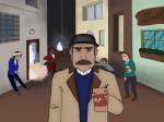 Was hängt in Inspektor Barnes´ Haus an der Wand?