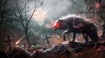 Das auf dem Bild ist ein Ripper. Ein untoter Wolf der meistens im Blitzland oder auf großen Friedhöfen lebt. Sie haben extrem scharfe Krallen daher
