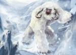Der Yeti ist eine riesige Bestie. Er ist 12 Meter groß und wiegt 1,5 Tonnen. Er lebt in den eisigen Bergen in großen Gebirgen. Mit ihren Hörnern k�