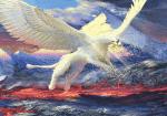Der Greif. Er ist schnell wie der Blitz und äuserst Stark. Seine Flügelspannweite beträgt 3 Meter. Ein Greif selber ist aber nur 2,5 Meter groß. E