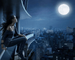 Es war tief in der Nacht. Silvana stand vor ihrem Haus und schaute auf die Straße. Der Vollmond glühte am Himmel. Dann lief sie los. Immer schneller