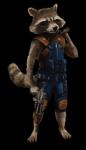 Name: Rocket Alter: in Waschbärjahren 5 Erkennungsspruch: / Erkennungszeichen: eine Pistole (siehe Bild) Wesen: Waschbär Geschlecht: M Augen: schwar
