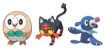 Wie heißen diese Pokémon Starter?