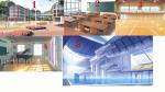 Internat: 1.Internat 2.Nachhilfe Räume 3.Sport Hallen 4.Musik Zimmer 5.Schwimm halle