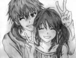 Beziehungen: ... + ... = zusammen ... -> ... = verliebt ... & ... = verwandt …:) …= haben ein Kind = wer das Kind ist Amina & Kou Emily-> Ko