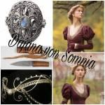 Name: Dajana von Somnia *Titel: Königin von Somnia Alter:21 Beruf: Königin Aussehen:(siehe Bild) Kleidung: langes rötliches Kleid, Diadem mit Monds