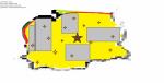 ((bold))Details - Der Süden((ebold)) ((cur))Legende((ecur)) gelbe Fläche: Wüste graue Fläche: felsiges Gebiet kleine braune sterne: Stützpunkte g