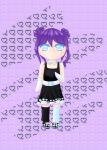 """Mein OC Yuna als Chibi ♡. Ich hab ihr Kleid einfach mal schwarz gemacht ^^"""". Sonst war es nämlich weiß. Was findet ihr besser? Und stört es"""