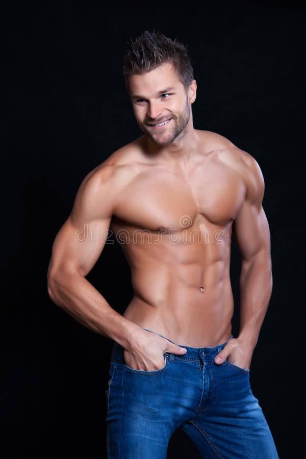 Muskulöser Junge